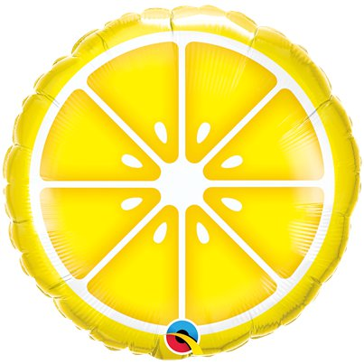 "Lemon Slice Balloon - 18"" Foil"