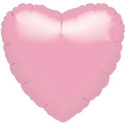 Iridescent Pearl Pink Heart Balloon - 18'' Foil - unpackaged