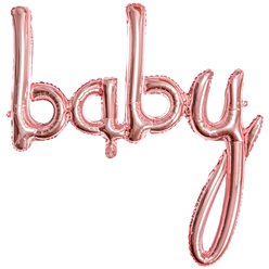 "Rose Gold Baby Phrase Balloon - 30"" Foil"
