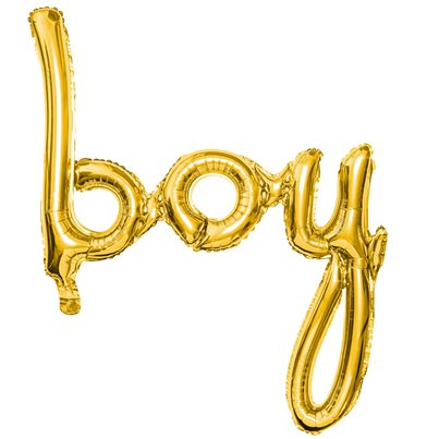 "Gold Boy Phrase Balloon - 29"" Foil"