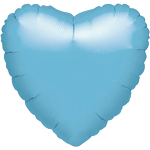 "Pearl Light Blue Heart Balloon - 18"" Foil"
