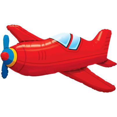 "Red Airplane Balloon - 36"" Foil"
