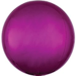"Bright Pink Orbz Balloon - 16"" Foil"