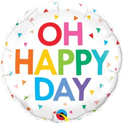 "Oh Happy Day Balloon - 18"" Foil"