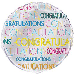 "Congratulations Bright Star Balloon - 18"" Foil"
