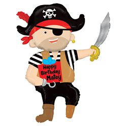 "Pirate Birthday Supersized Balloon - 44"" Foil"