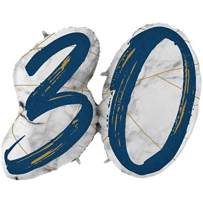 "30th Birthday Marble Effect Balloon - 36"" Foil"
