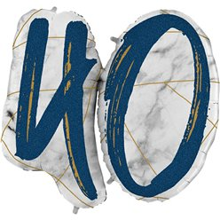 "40th Birthday Navy Marble Effect Balloon - 36"" Foil"