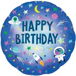 "Happy Birthday Outta Space Balloon - 18"" Foil"