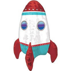 "Rocket Ship Balloon - 18"" Foil"