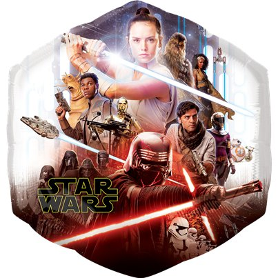 "Star Wars Rise of Skywalker SuperShape Balloon - 22"" Foil"