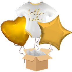 Hello Baby Balloon Bouquet - Delivered Inflated