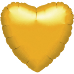 "Metallic Gold Heart Balloon - 18"" Foil - unpackaged"