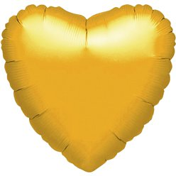 Metallic Gold Heart Balloon - 18'' Foil - unpackaged