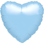 "Metallic Pearl Pastel Blue Heart Balloon - 18"" Foil - unpackaged"