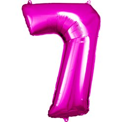 "Pink Number 7 Balloon - 34"" Foil"