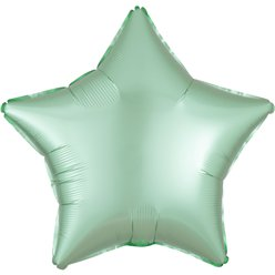 "Mint Green Satin Luxe Star Balloon - 18"" Foil"