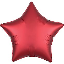 "Sangria Red Satin Luxe Star Balloon - 18"" Foil"