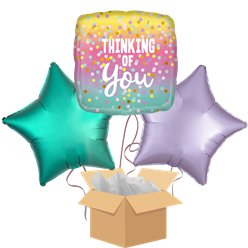 Thinking of You Balloon Bouquet - Delivered Inflated