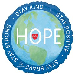 "Hope Double Sided Balloon - 18"" Foil"