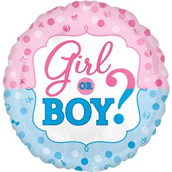 "Gender Reveal Balloon - 18"" Foil"