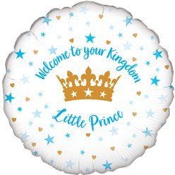 "Welcome Little Prince Balloon - 18"" Foil"