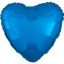 "Metallic Blue Heart Balloon - 18"" Foil"