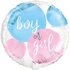 "Boy Or Girl Gender Reveal Balloon - 18"" Foil"