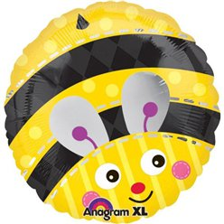 "Cute Bumble Bee Round Balloon - 18"" Foil"