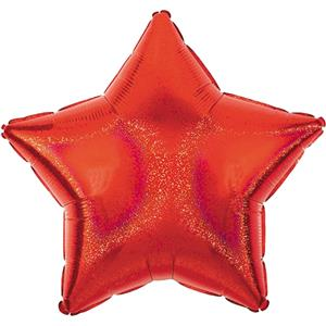 "Red Dazzler Star Balloon - 19"" Foil - unpackaged"