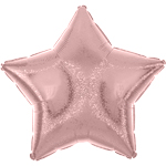 "Pastel Pink Dazzler Star Balloon - 19"" Foil - unpackaged"