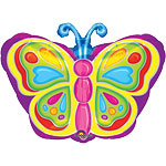 "Bright Butterfly Shaped Balloon - 18"" Foil"
