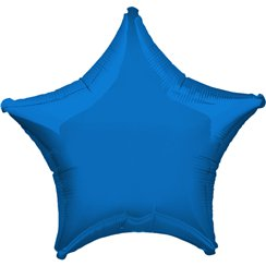 "Metallic Blue Star Balloon - 32"" Foil"