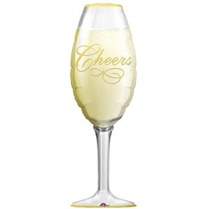 Champagne Glass SuperShape Balloon - 38
