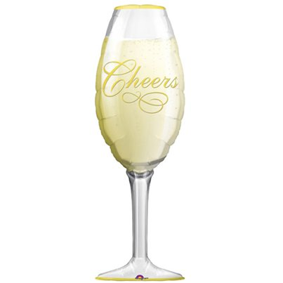 "Champagne Glass SuperShape Balloon - 38"" Foil"