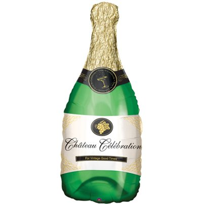"Champagne Bottle SuperShape Balloon - 38"" Foil"