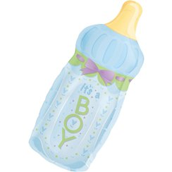 "Foil Balloons 31"" Baby Bottle Boy Supershape"
