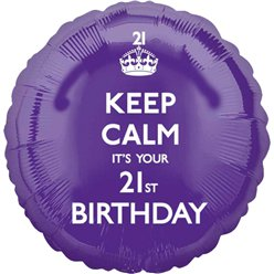 Keep Calm It's Your 21st Birthday Balloon - 18