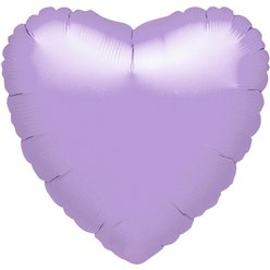 "Metallic Pastel Lilac Heart Balloon - 18"" Foil - unpackaged"
