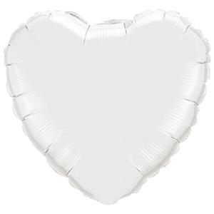 White Heart Balloon - 18