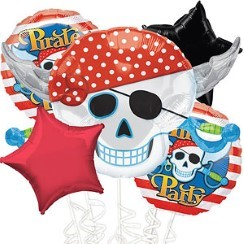Pirate Balloon Bouquet - Assorted Foil