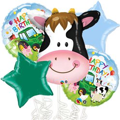 Farmyard Balloon Bouquet - Assorted Foil