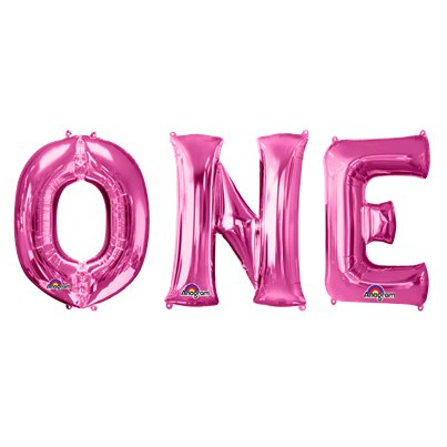 'ONE' Pink Balloon Kit - 34