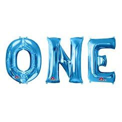 "'ONE' Blue Balloon Kit - 34"" Foil"