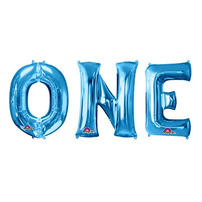 'ONE' Blue Balloon Kit - 34