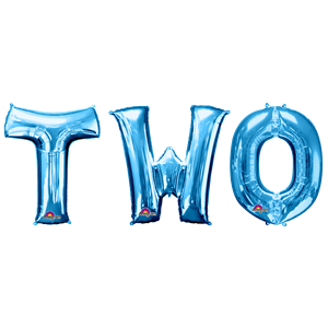 'TWO' Blue Balloon Kit - 34