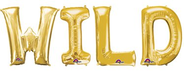 "'WILD' Gold Balloon Kit - 16"" Foils"