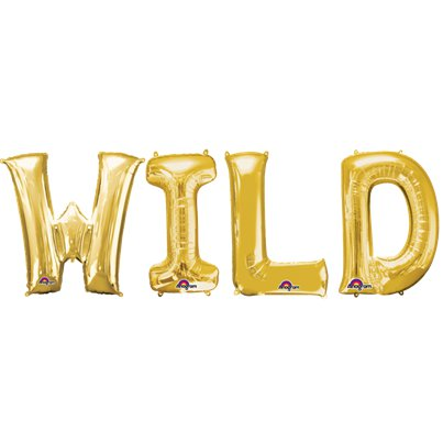 'WILD' Gold Balloon Kit - 16