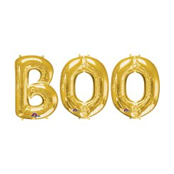 'BOO' Gold Foil Balloon Kit - 16""
