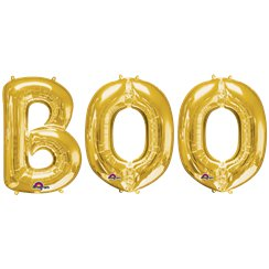 'BOO' Gold Foil Balloon Kit - 34""